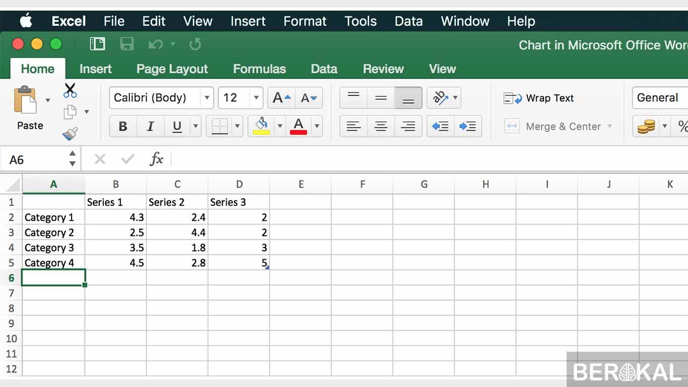 cara membuat grafik persentase di word