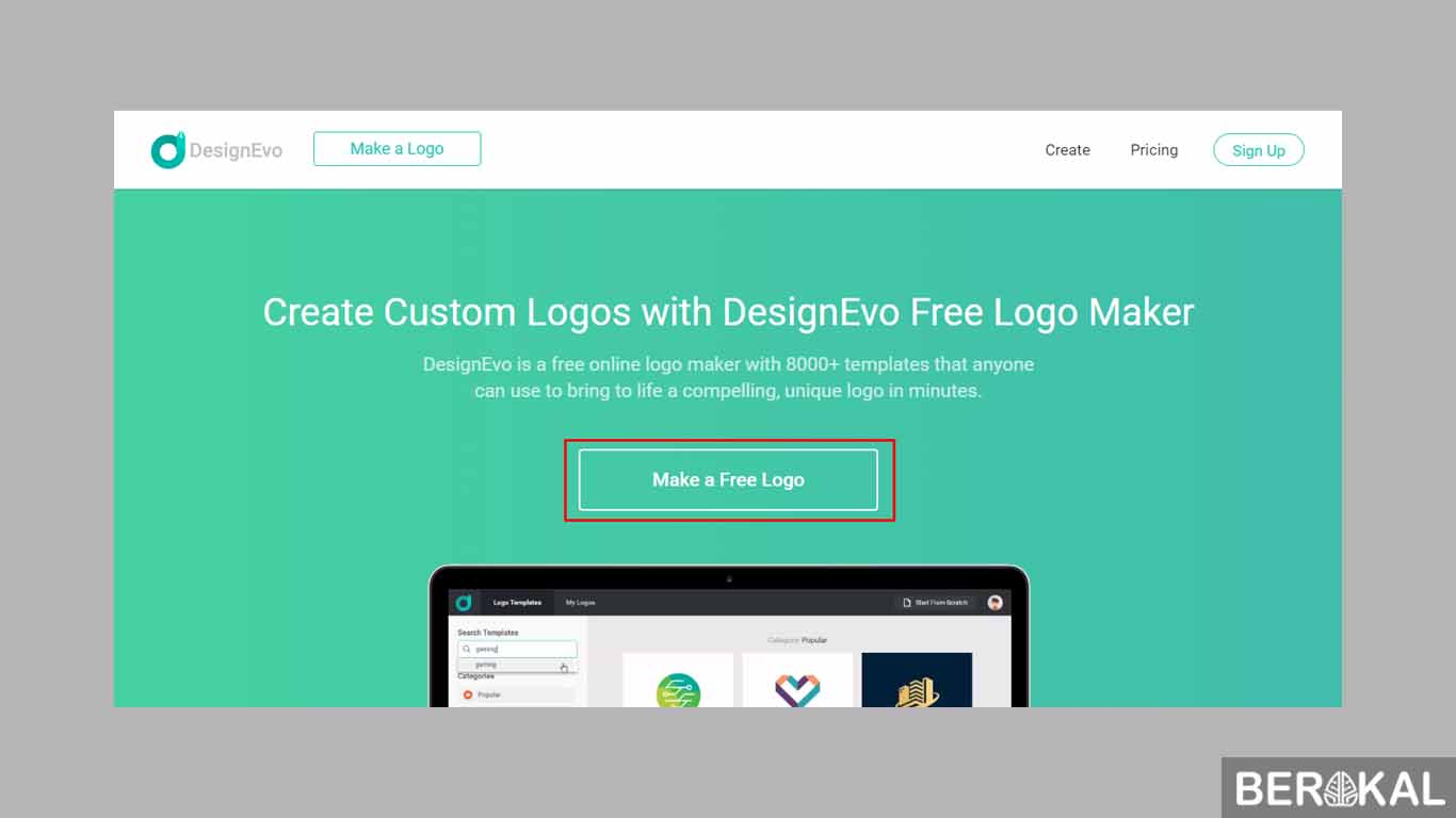 cara membuat logo online via hp
