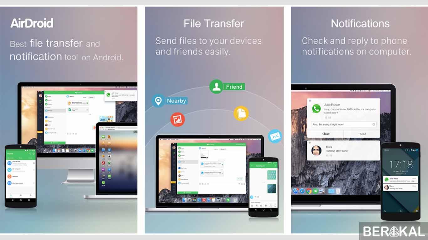cara menampilkan layar hp ke laptop dengan wifi
