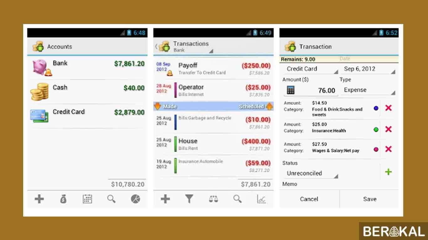 aplikasi keuangan android sinkronisasi