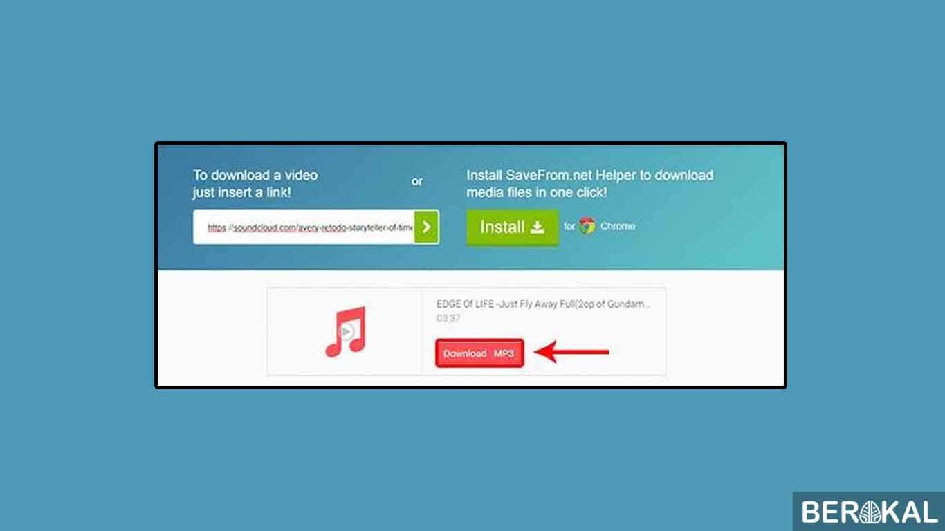 cara download lagu di browser