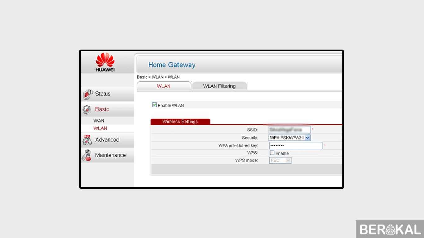 cara ganti password wifi indihome huawei