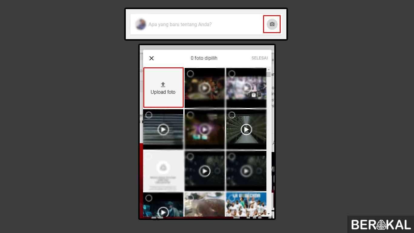 cara upload foto di google via hp