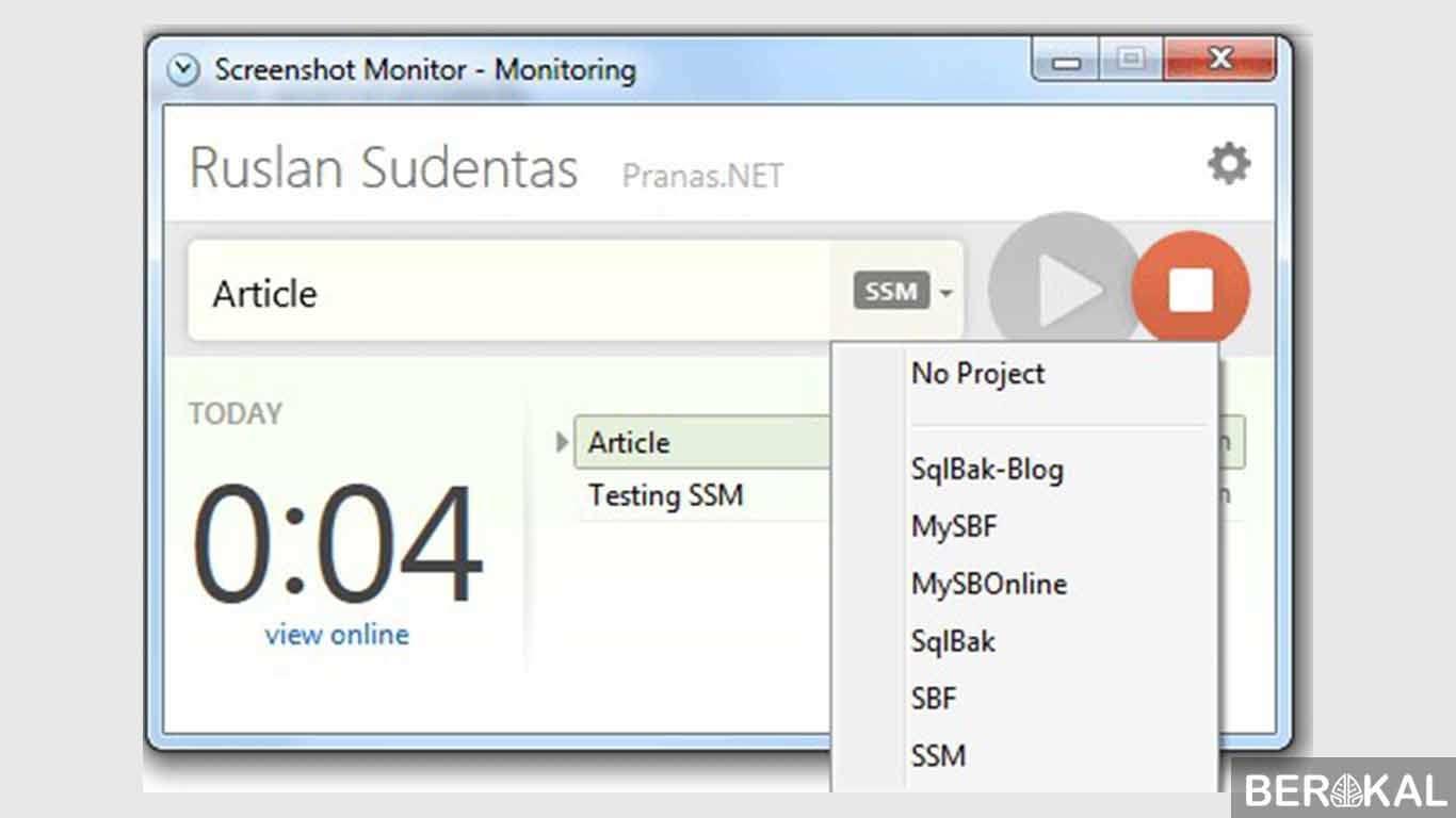 monitoring komputer client