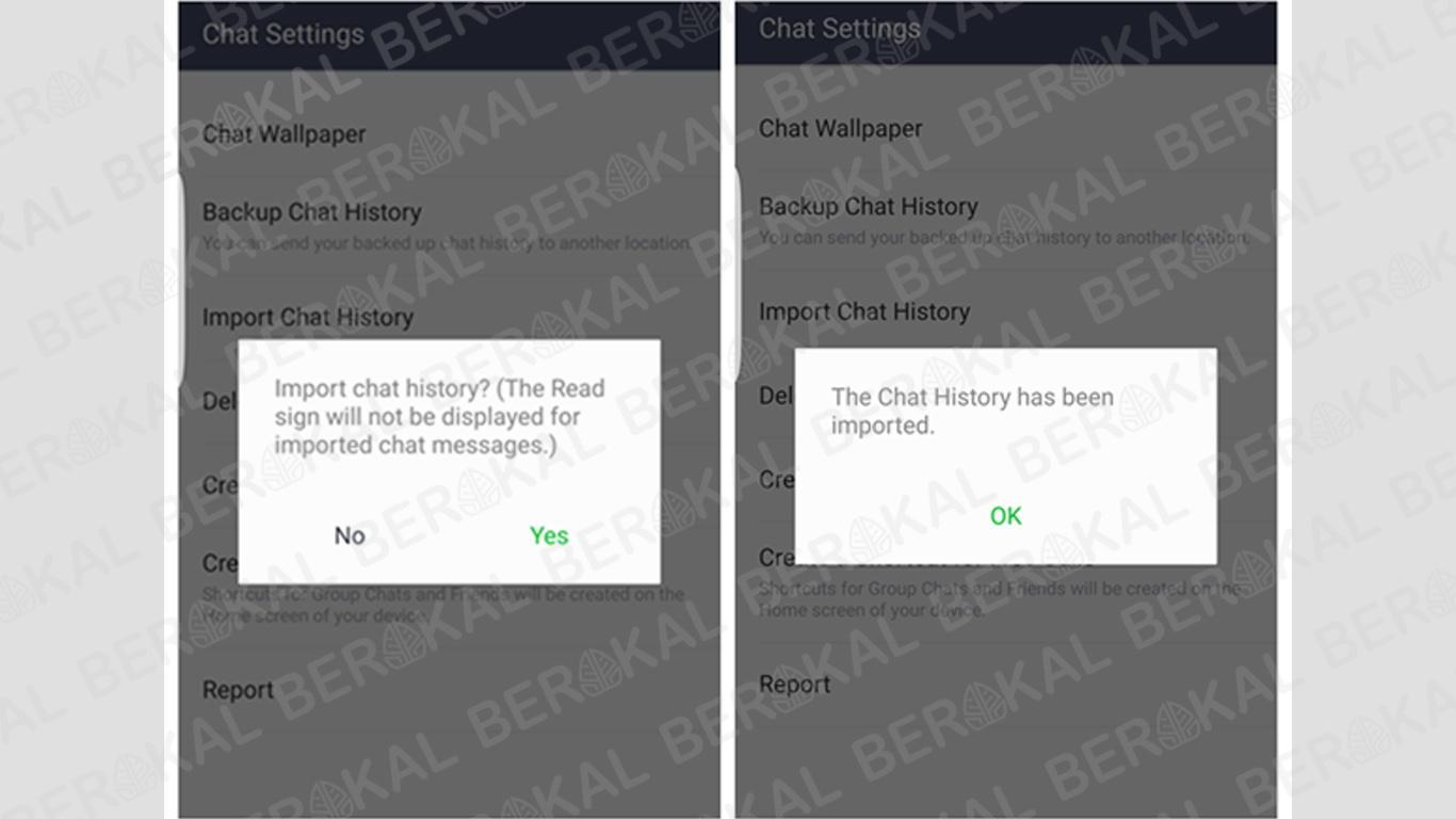 2 cara backup chat line dengan mudah