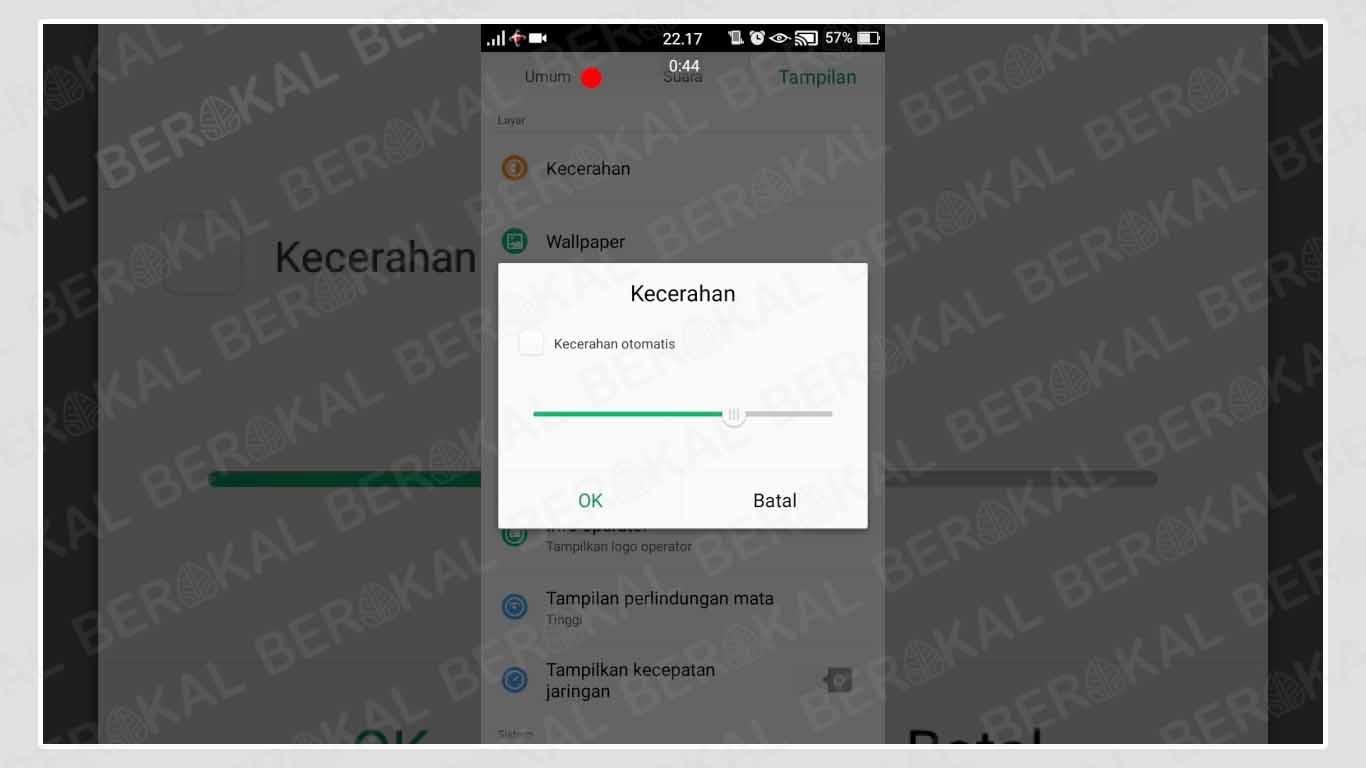 Kecerahan Layar Android