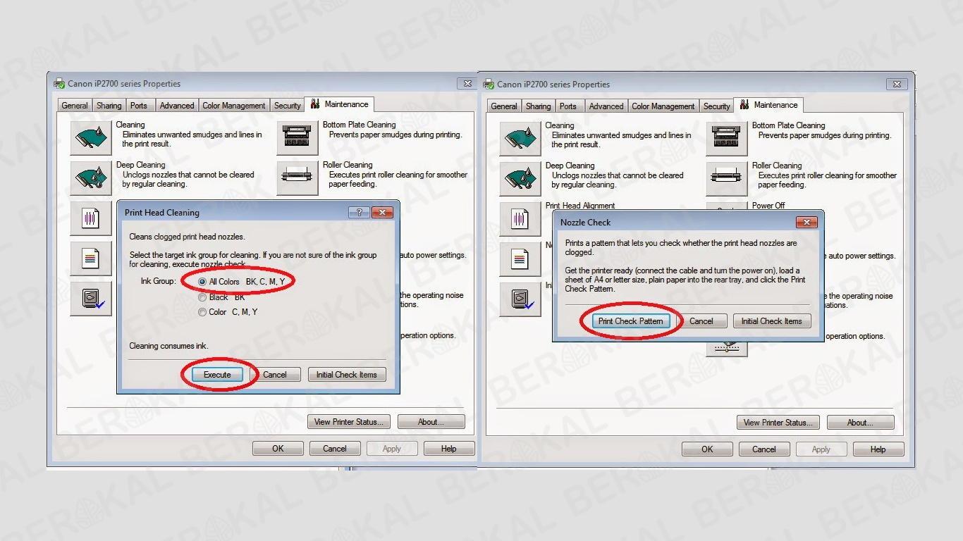 cara mudah cleaning printer canon