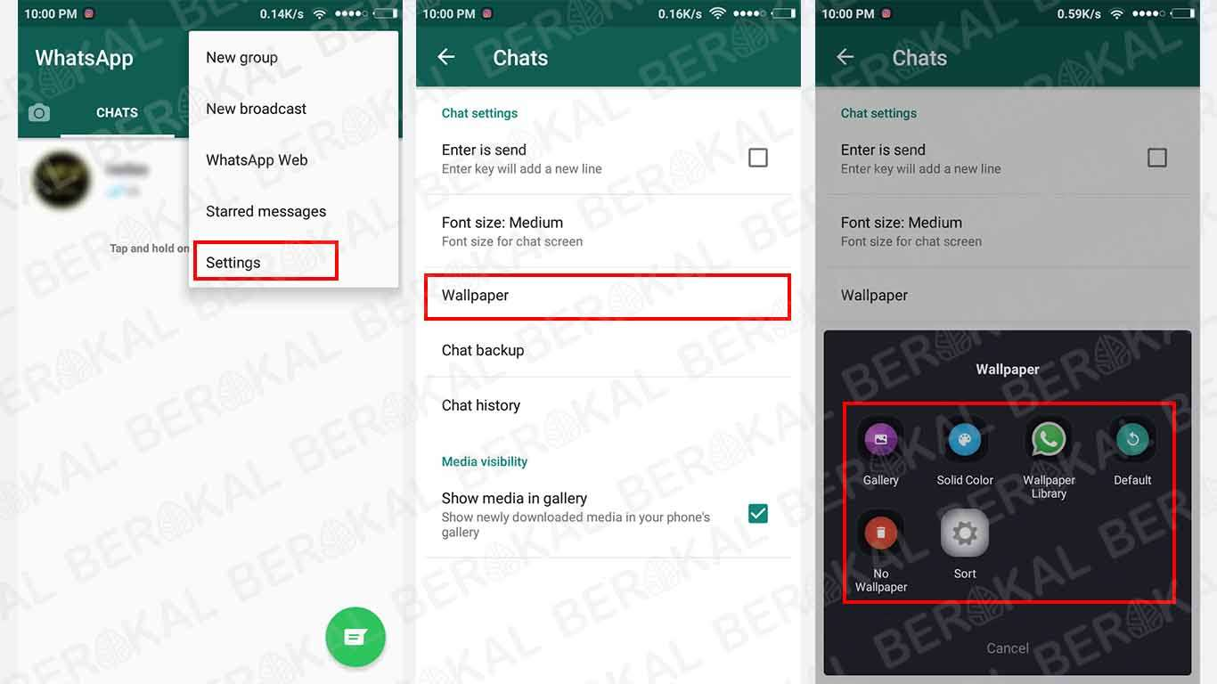 2 Cara Mengganti Background Chat Whatsapp Tanpa Aplikasi