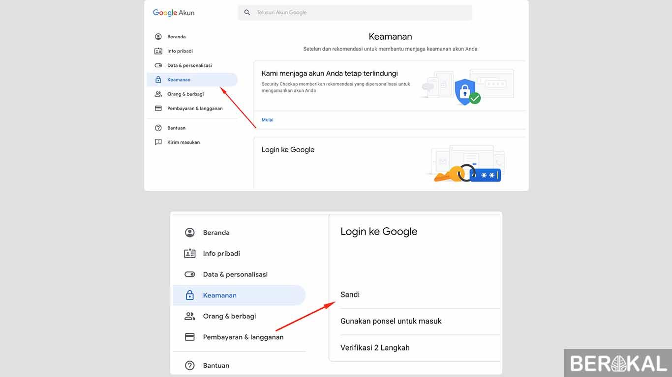 lupa sandi akun google