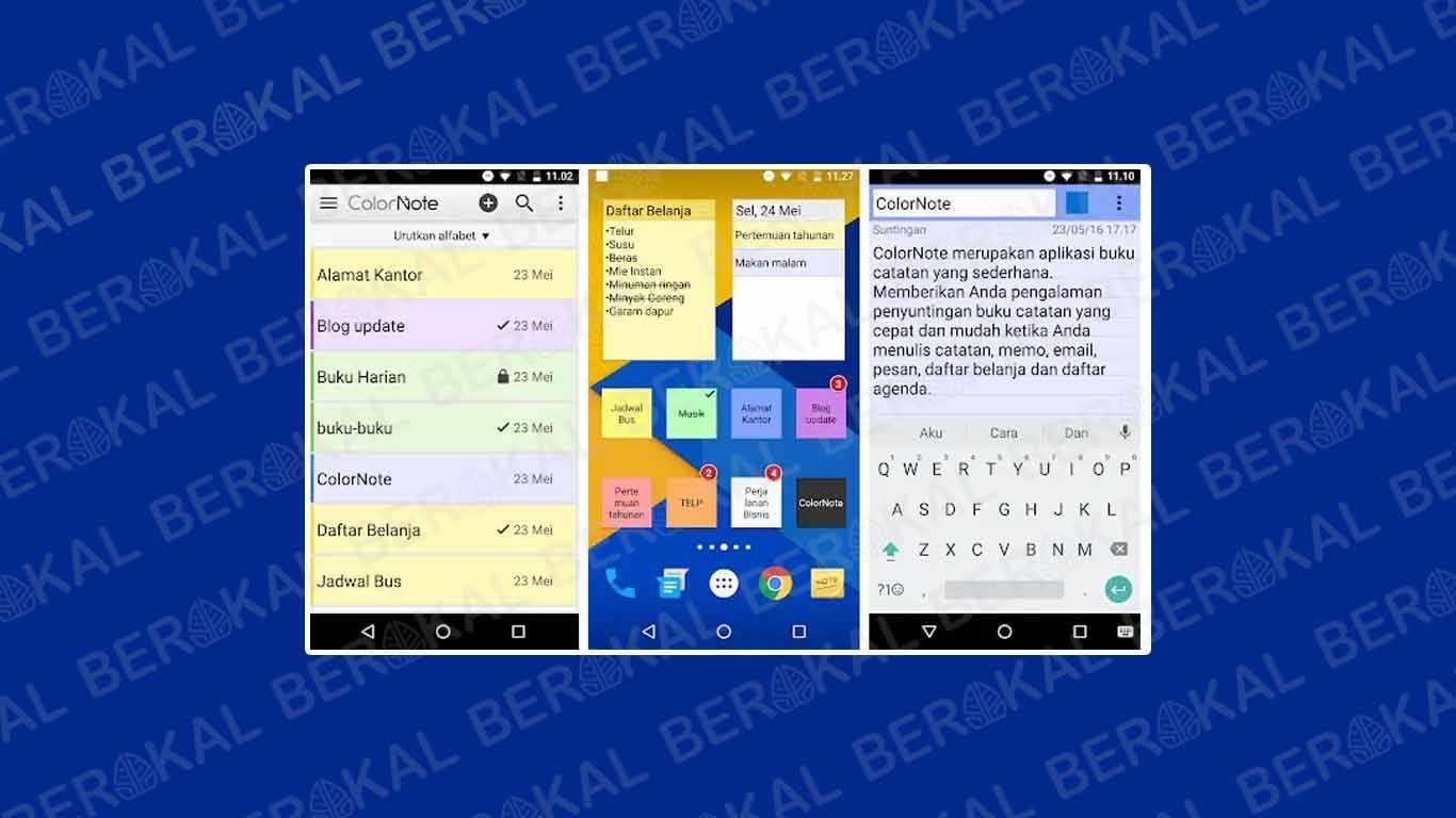 Aplikasi Tulisan di Layar HP ColorNote