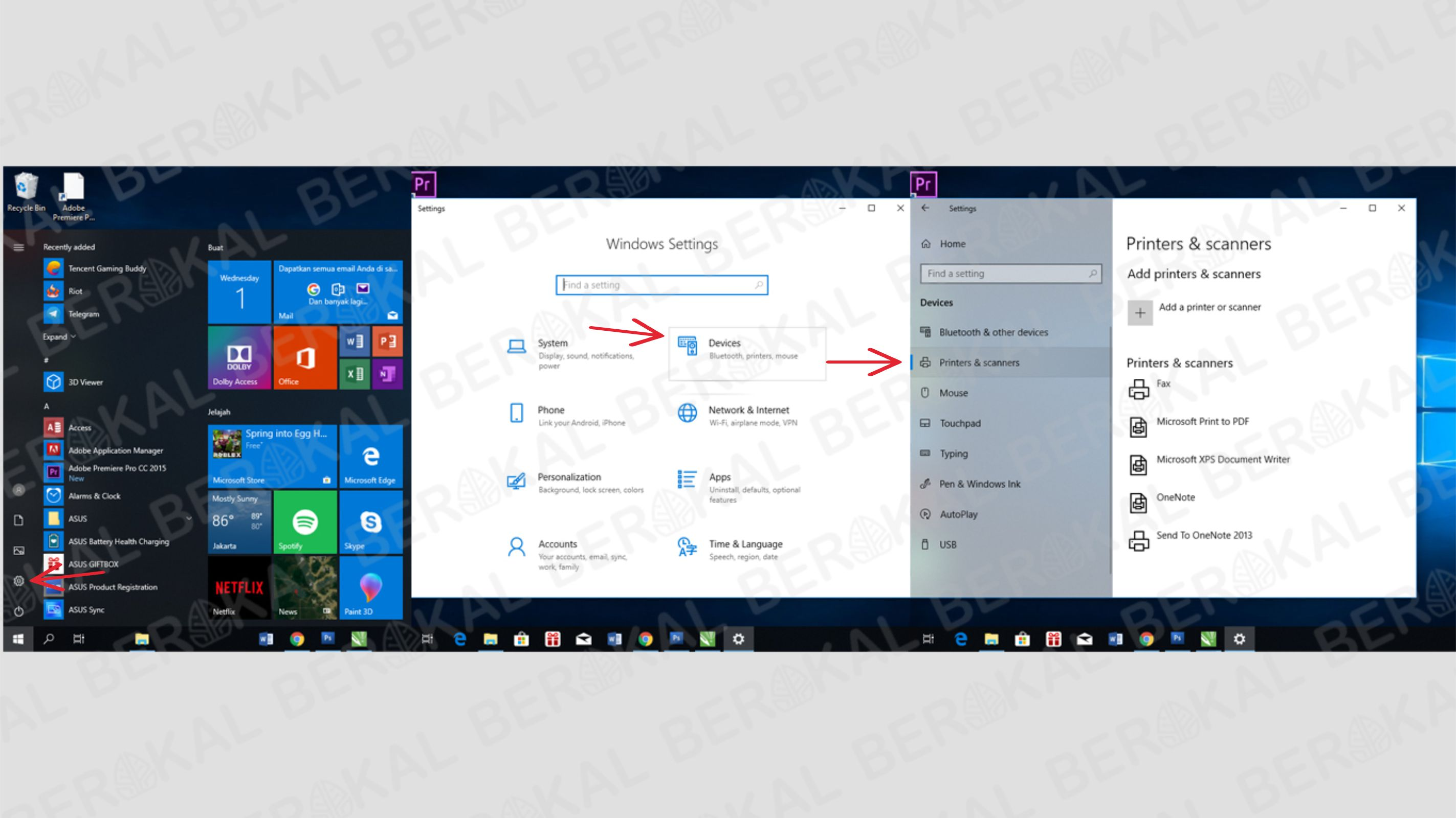 Cara masuk pengaturan printer di windows 10
