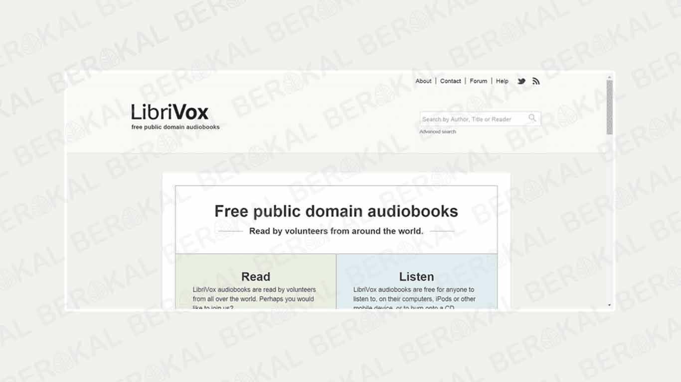 Download Buku Gratis di LibriVox