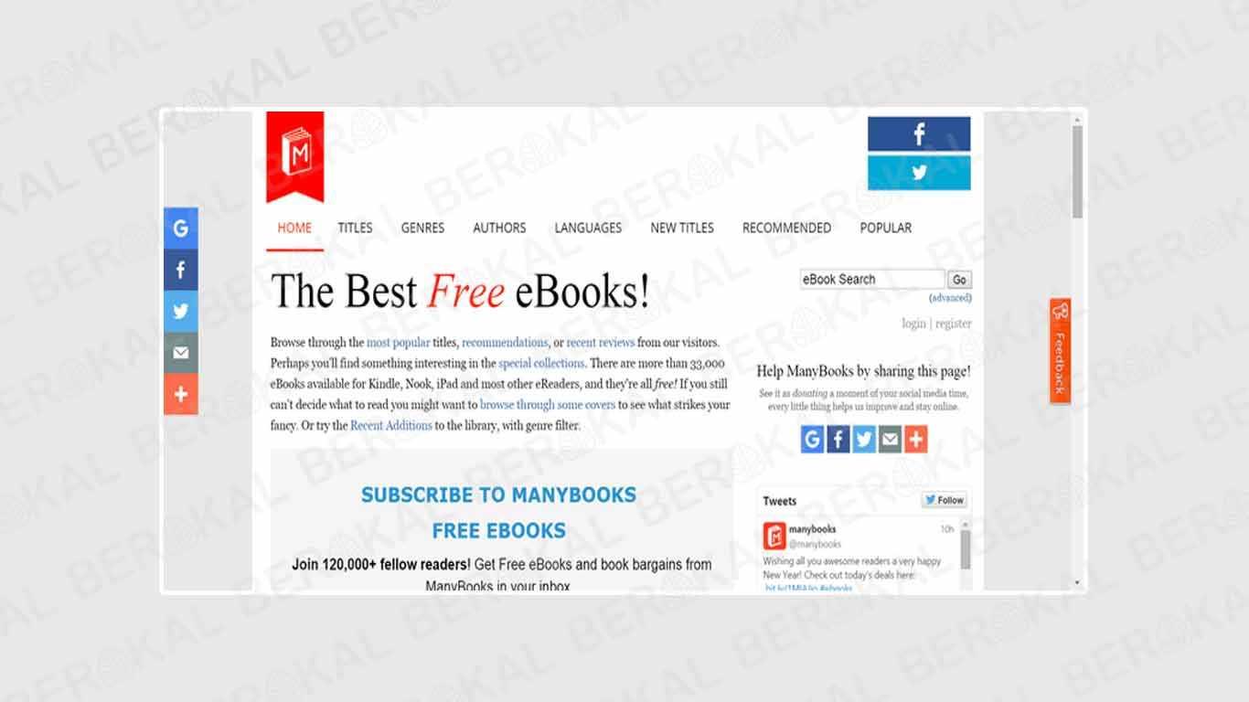 Download Buku Gratis di ManyBooks