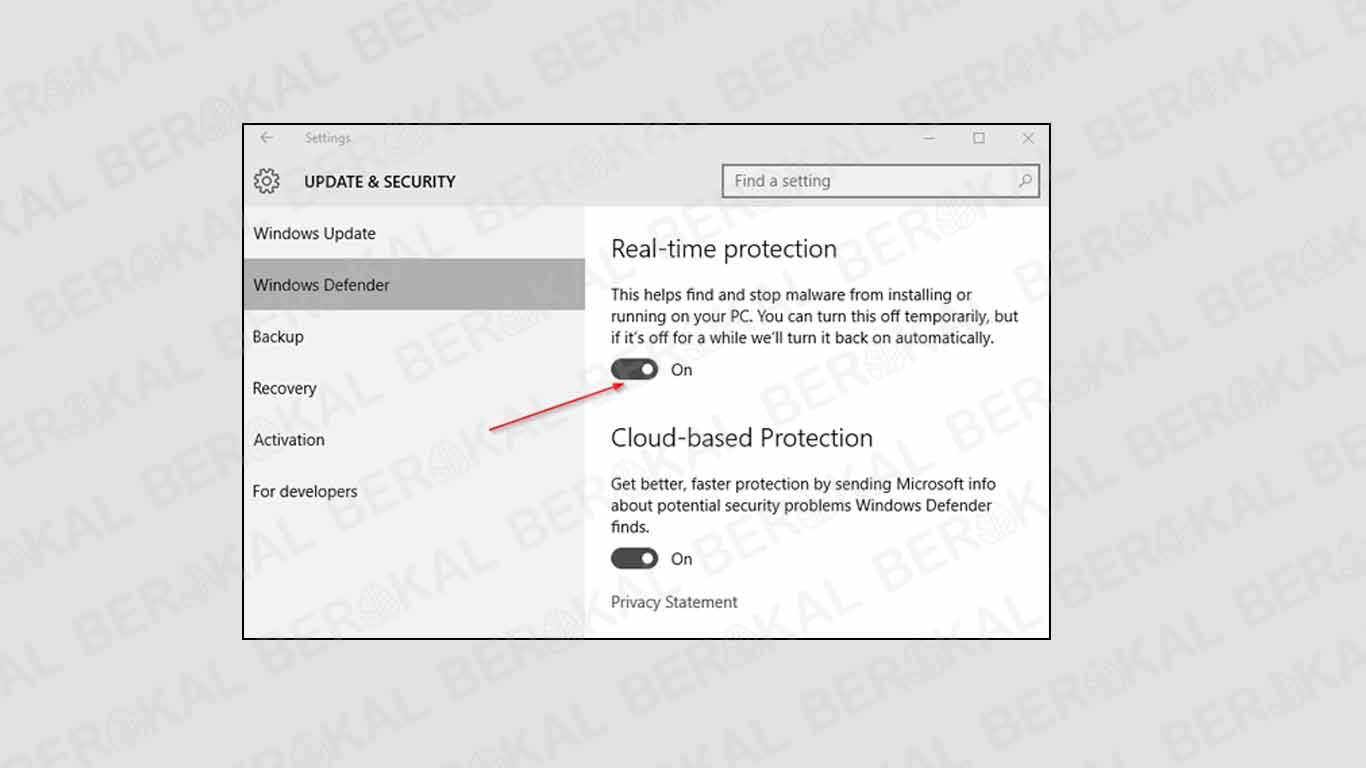 Windows Defender di Windows 10