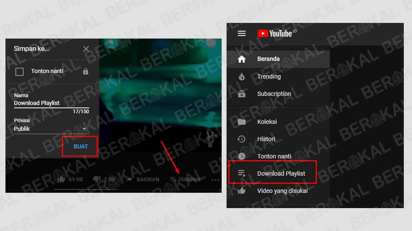 cara download playlist youtube tanpa idm