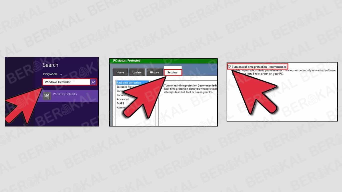 cara mengaktifkan windows defender security center