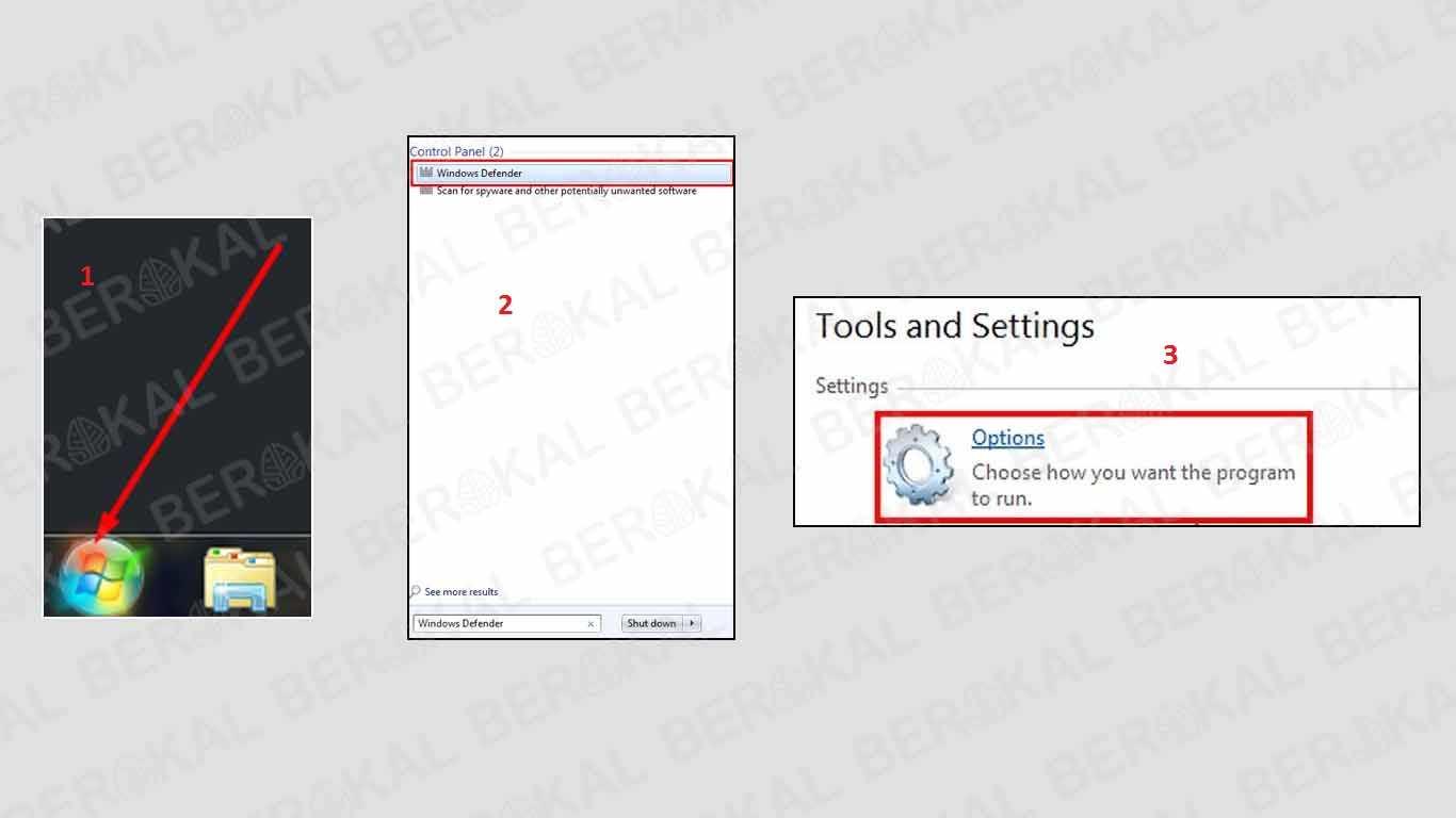 cara mengaktifkan windows defender windows 7