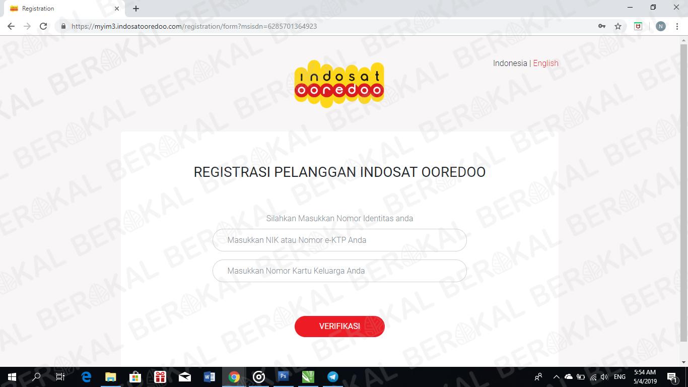cara registrasi kartu indosat ooredoo online