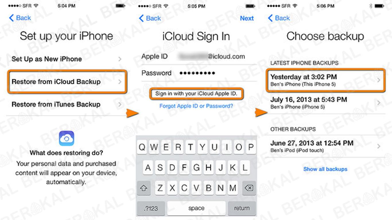 cara restore iPhone dengan iCloud