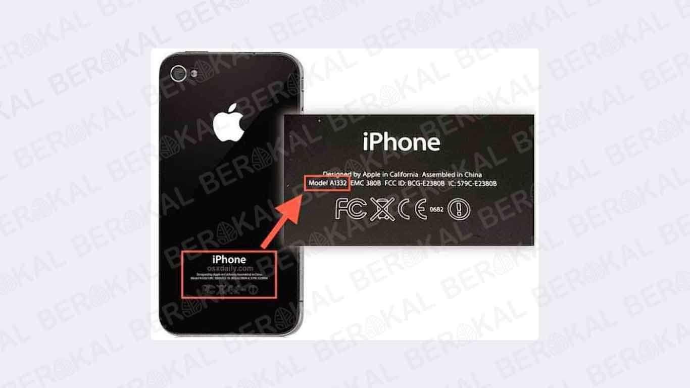 cek model iphone lewat fisik