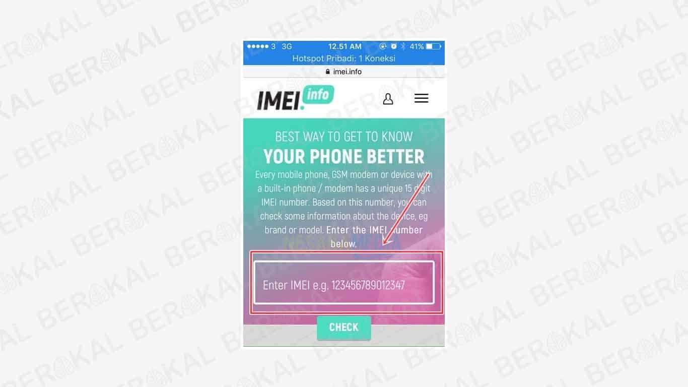 cek model iphone secara online