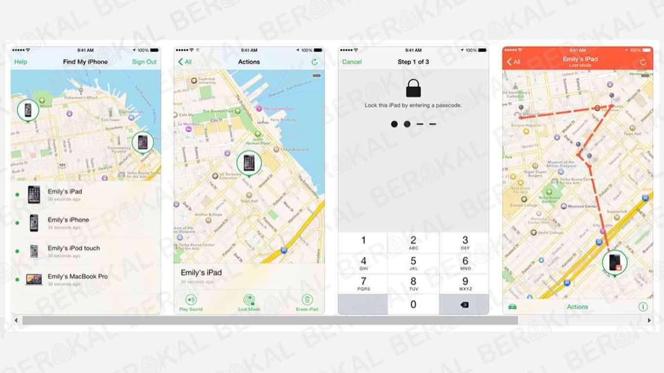 melacak iPhone dengan iPhone teman