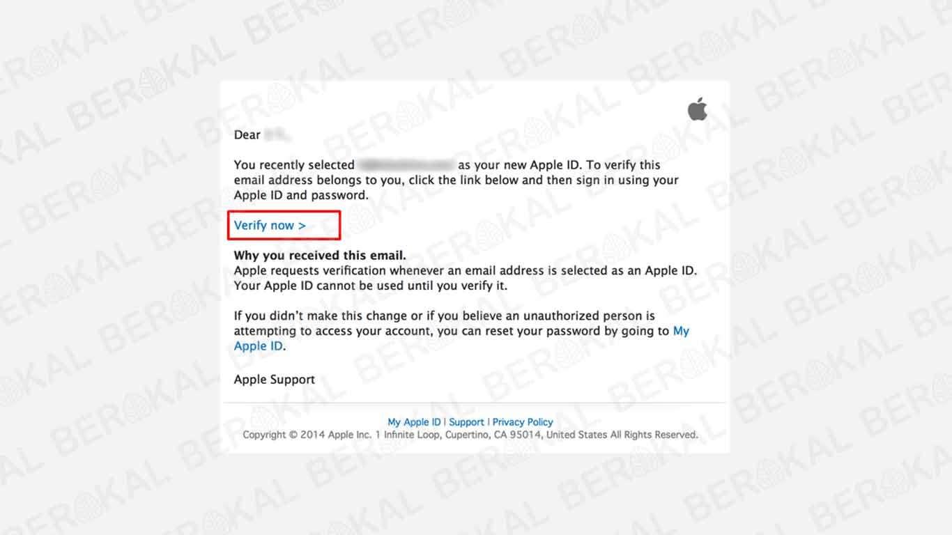 verifikasi id apple