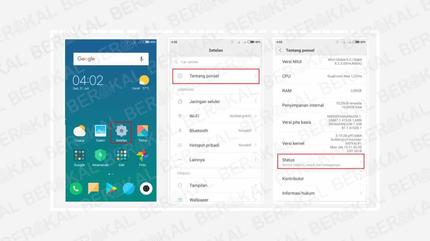 Cara Cek IMEI Xiaomi lewat Peraturan