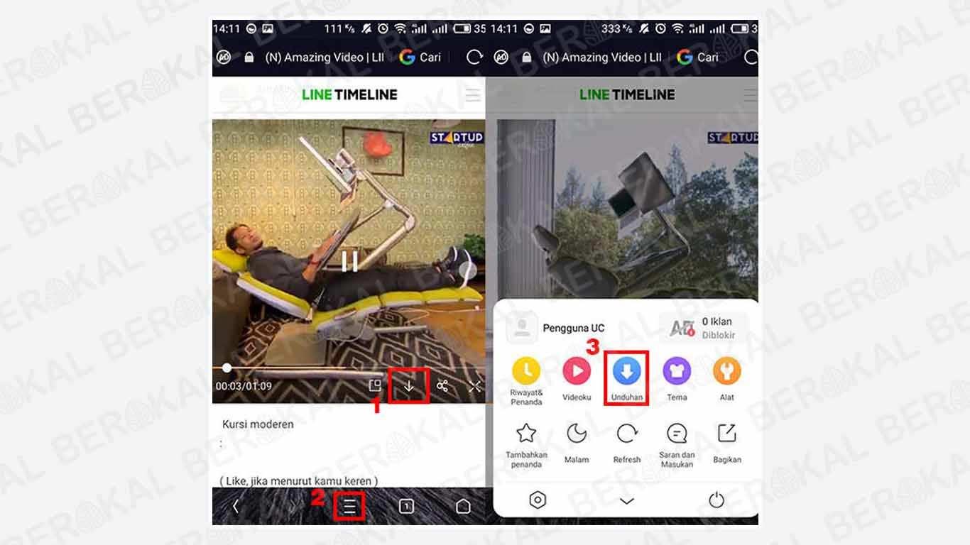 Cara Download Video Line dengan UC Browser