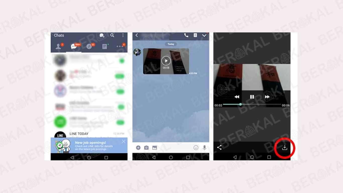 Cara Download Video di Chat Line