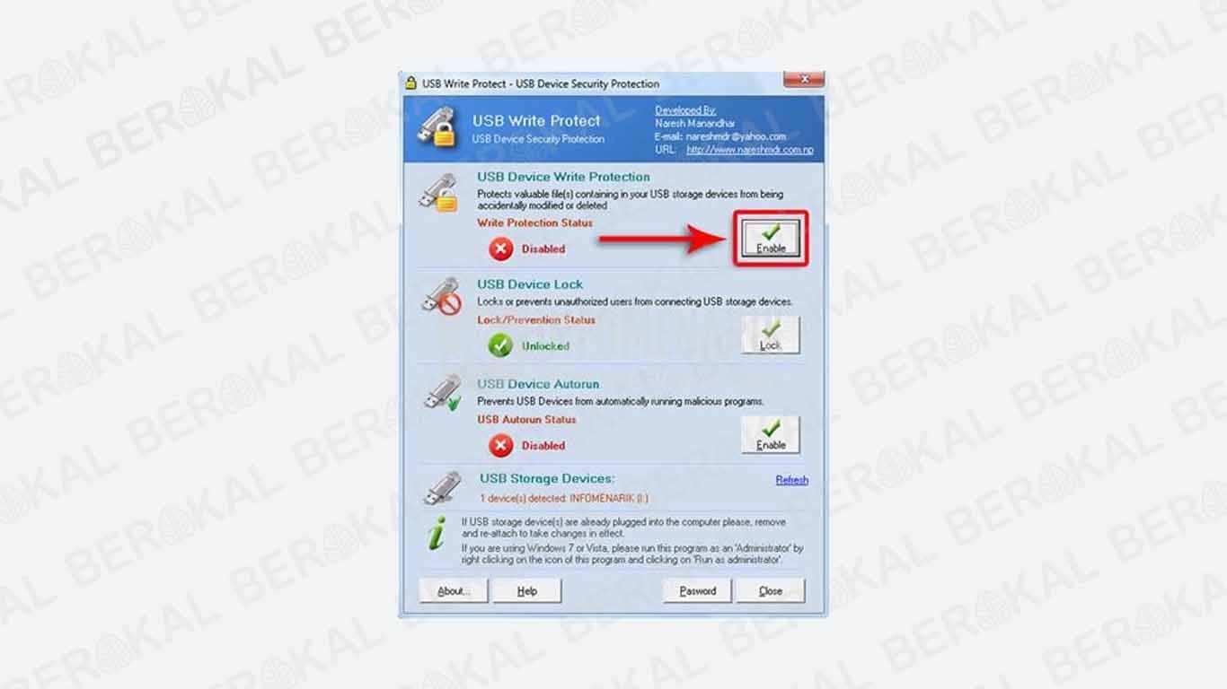 Cara Memperbaiki Flashdisk Write Protected degan software