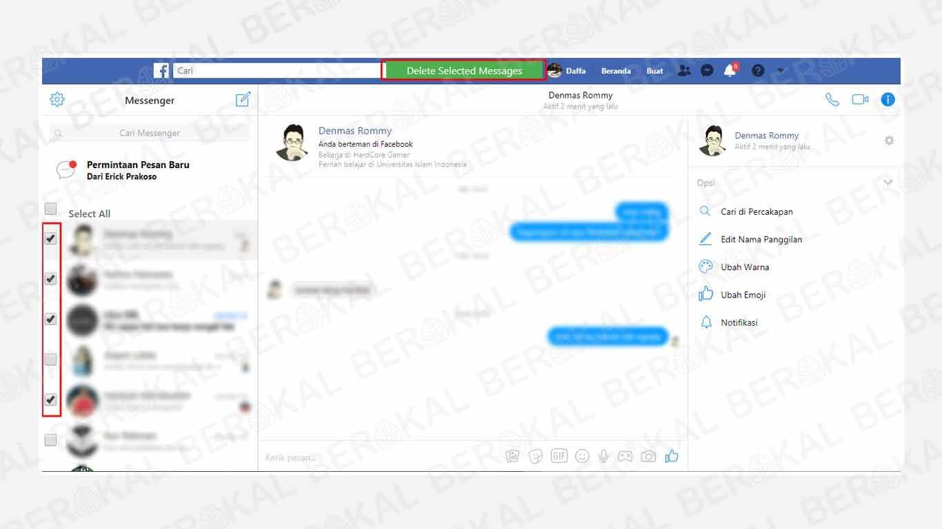 Cara Menghapus Pesan di Messenger dengan Ekstensi Chrome