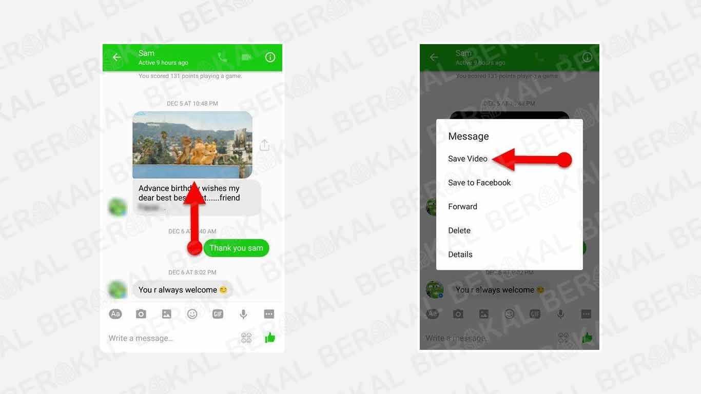 Cara Menyimpan Video dari Messenger HP