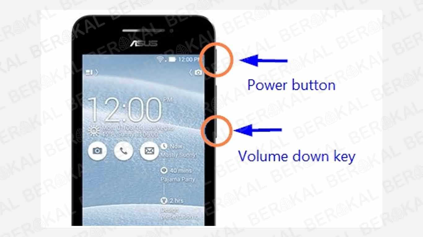Cara Screenshot Asus dengan Tombol Power dan Volume