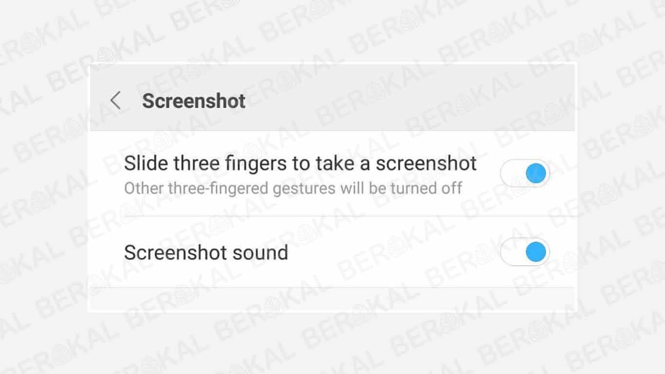 Cara Screenshot Xiaomi dengan 3 Jari