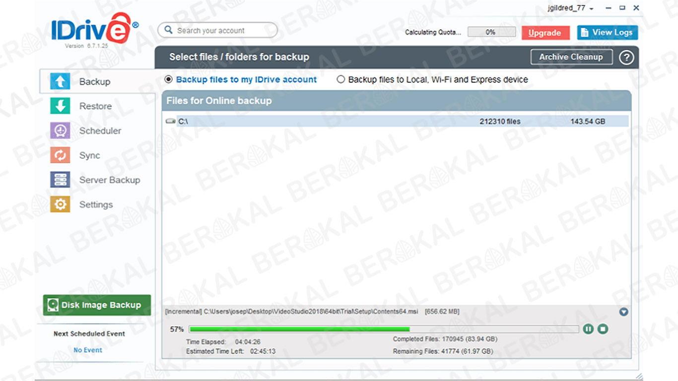 IDrive aplikasi penyimpanan online yang aman