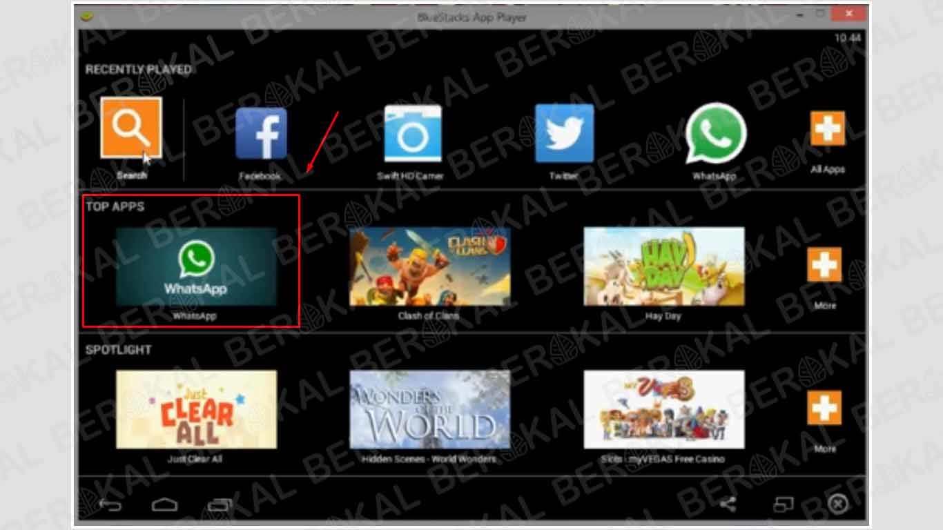 install aplikasi whatsapp di bluestacks