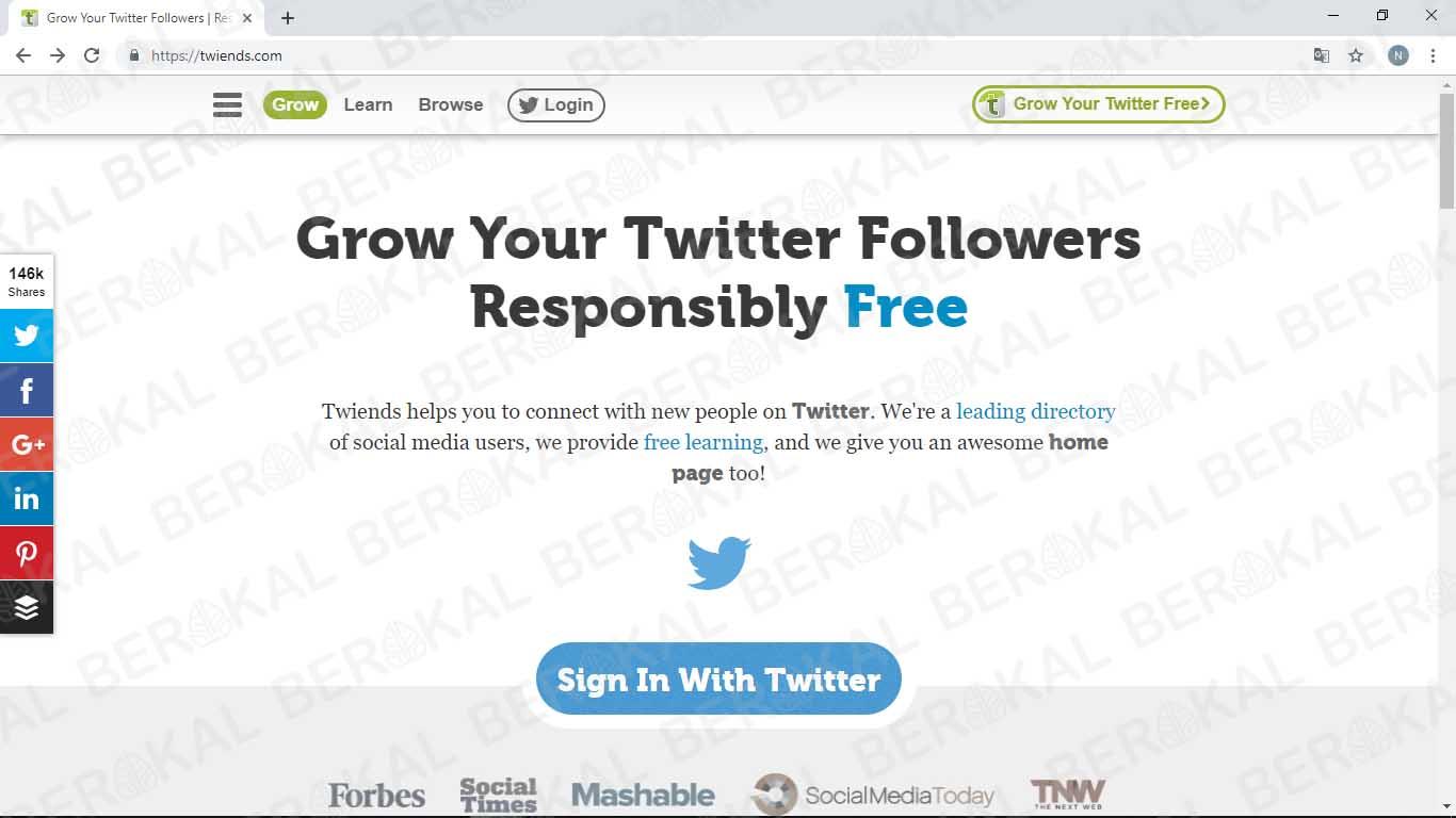 twiends penambah followers twitter gratis