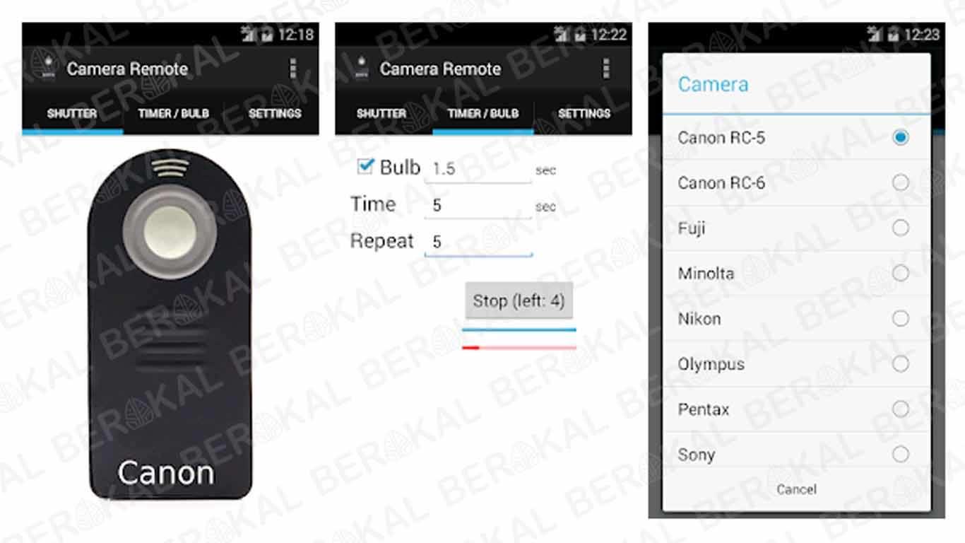 Aplikasi Kamera Canon Camera Remote Control (DSLR)