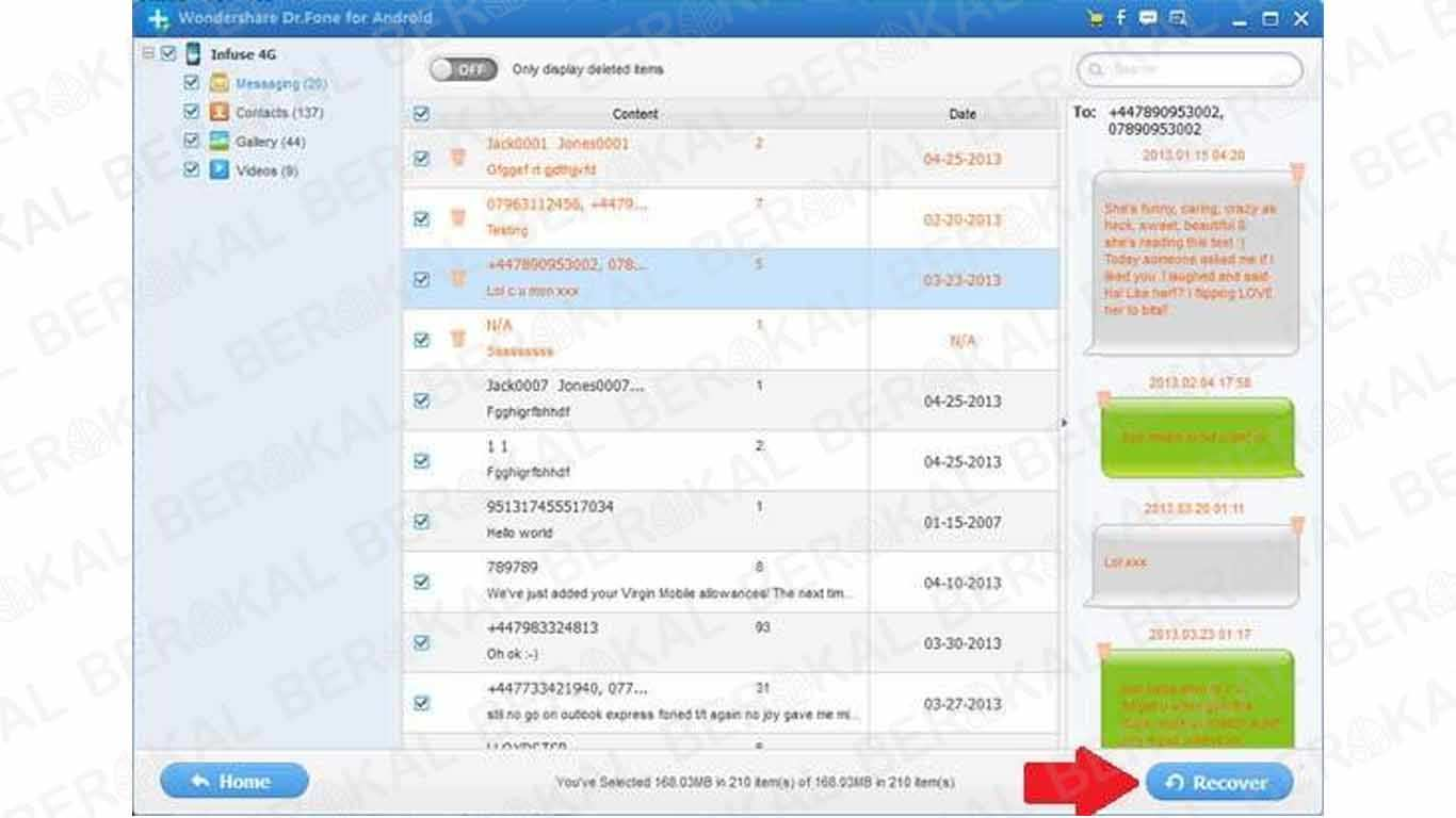 Cara Mengembalikan SMS yang Terhapus dengan Wondershare Drfone