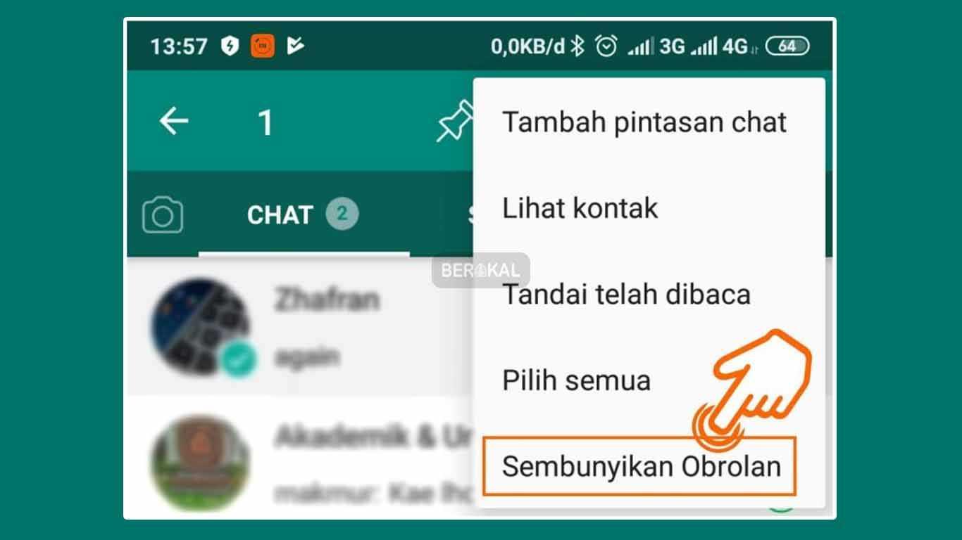 Cara Menyembunyikan Chat WhatsApp dengan Aplikasi