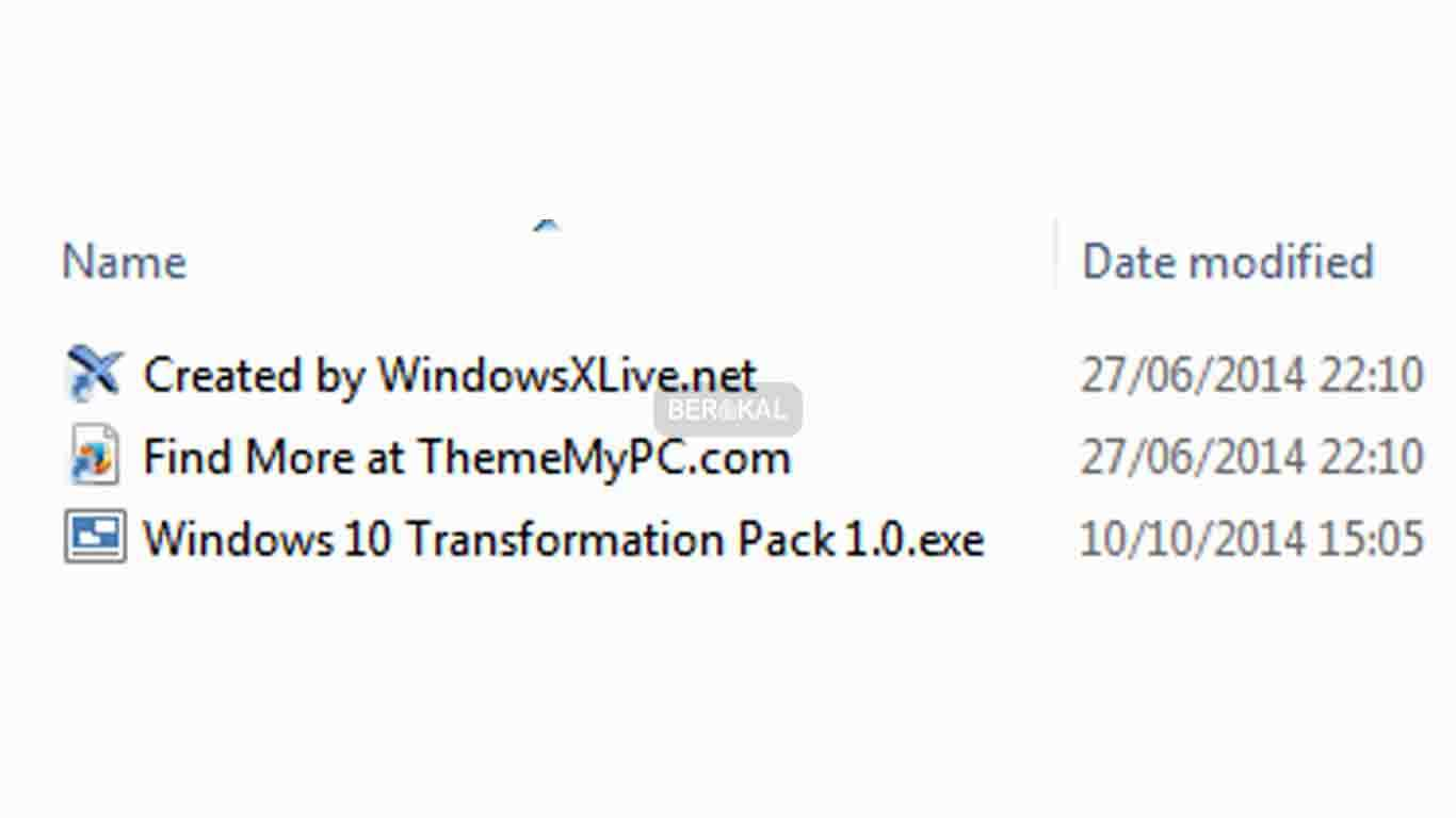 Hasil download skinpack windows 10