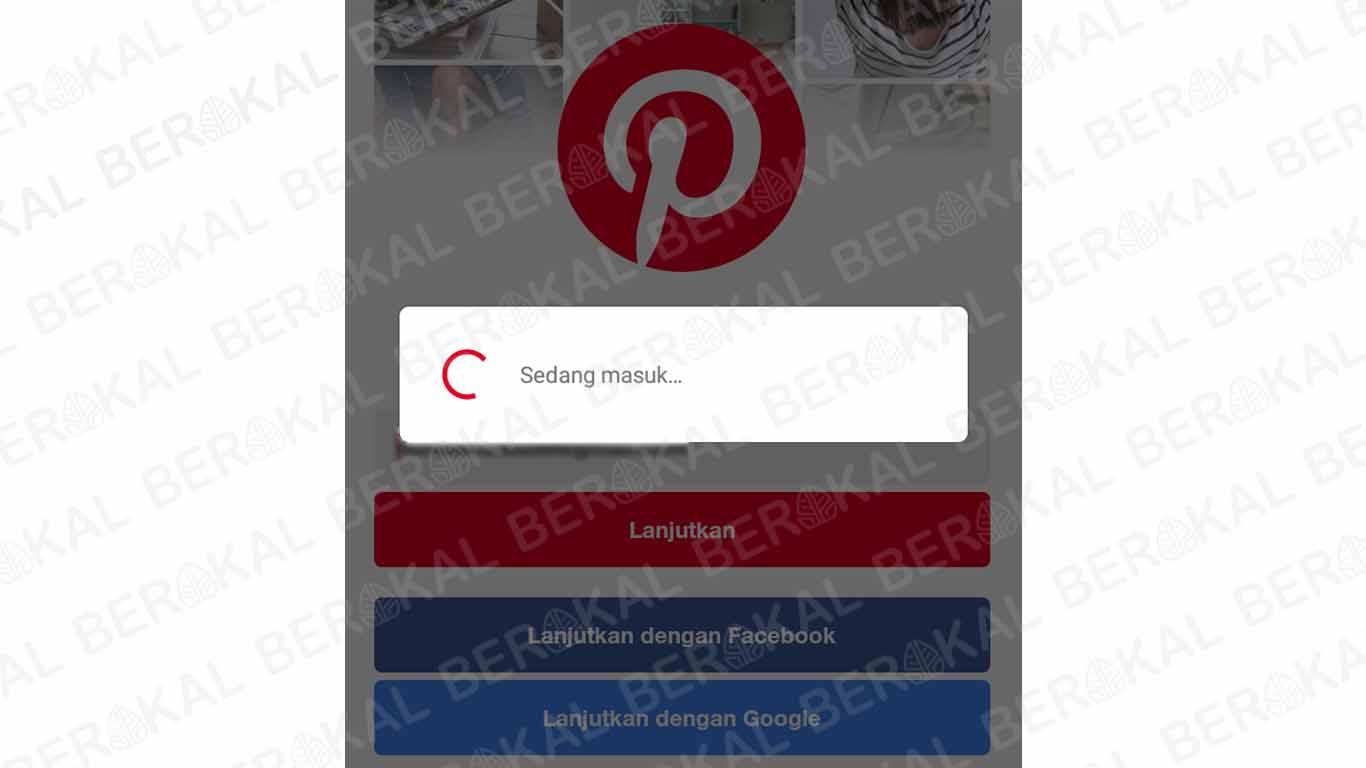 Login Pinterest dengan Akun Facebook