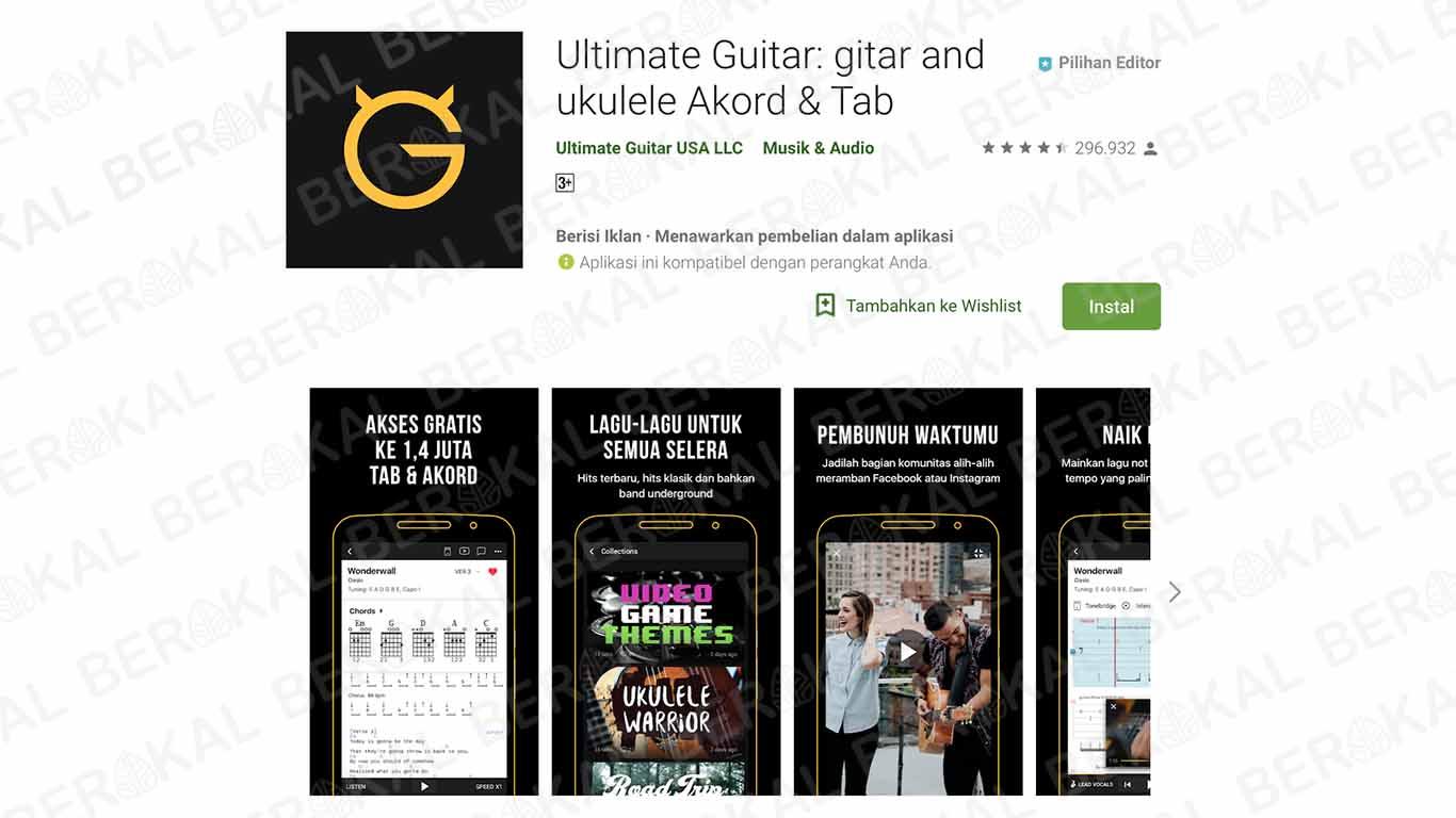 aplikasi kunci gitar dasar