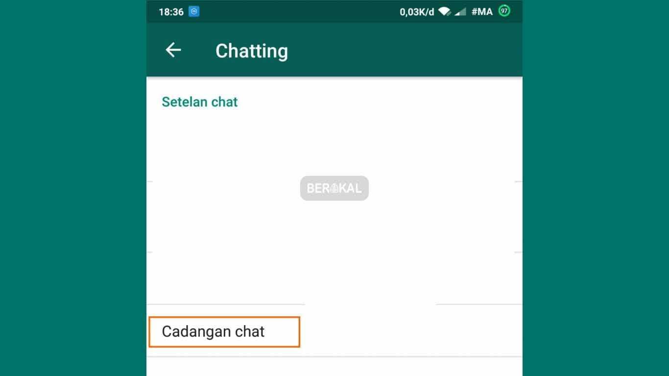 cadangan chat whatsapp iphone