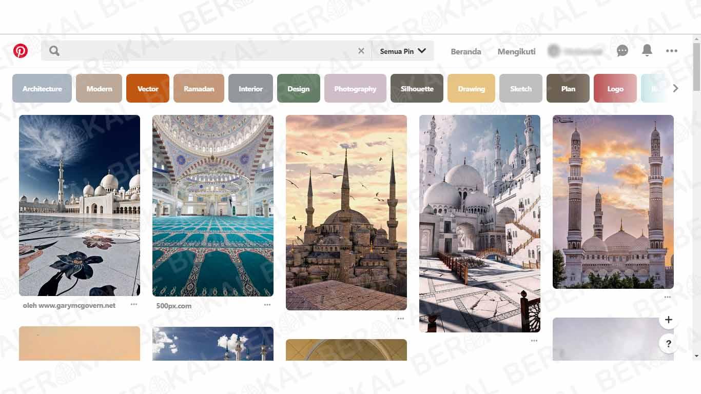 cara download foto di pinterest