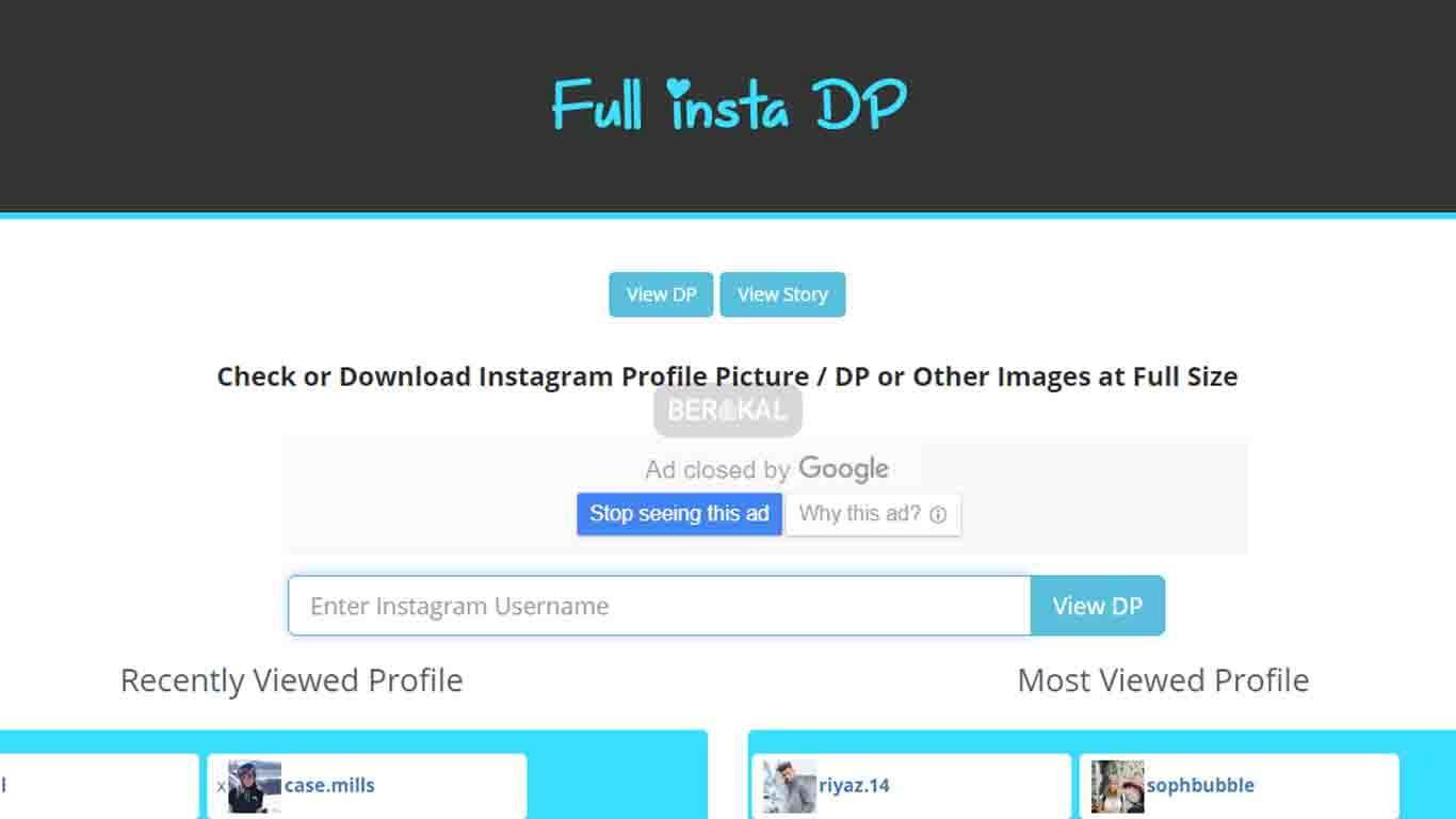cara melihat foto profil instagram dengan fullinstadp