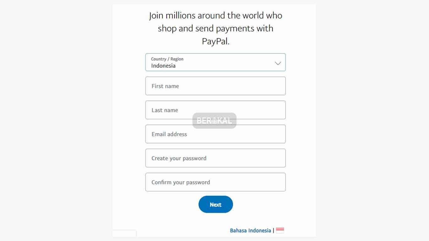 cara membuat akun paypal resmi indonesia