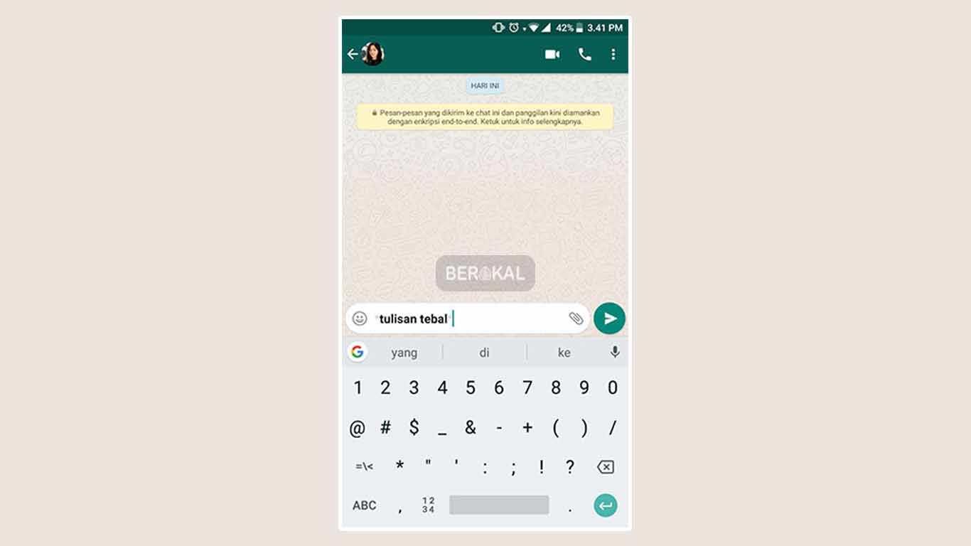 cara membuat tulisan unik tebal di whatsapp
