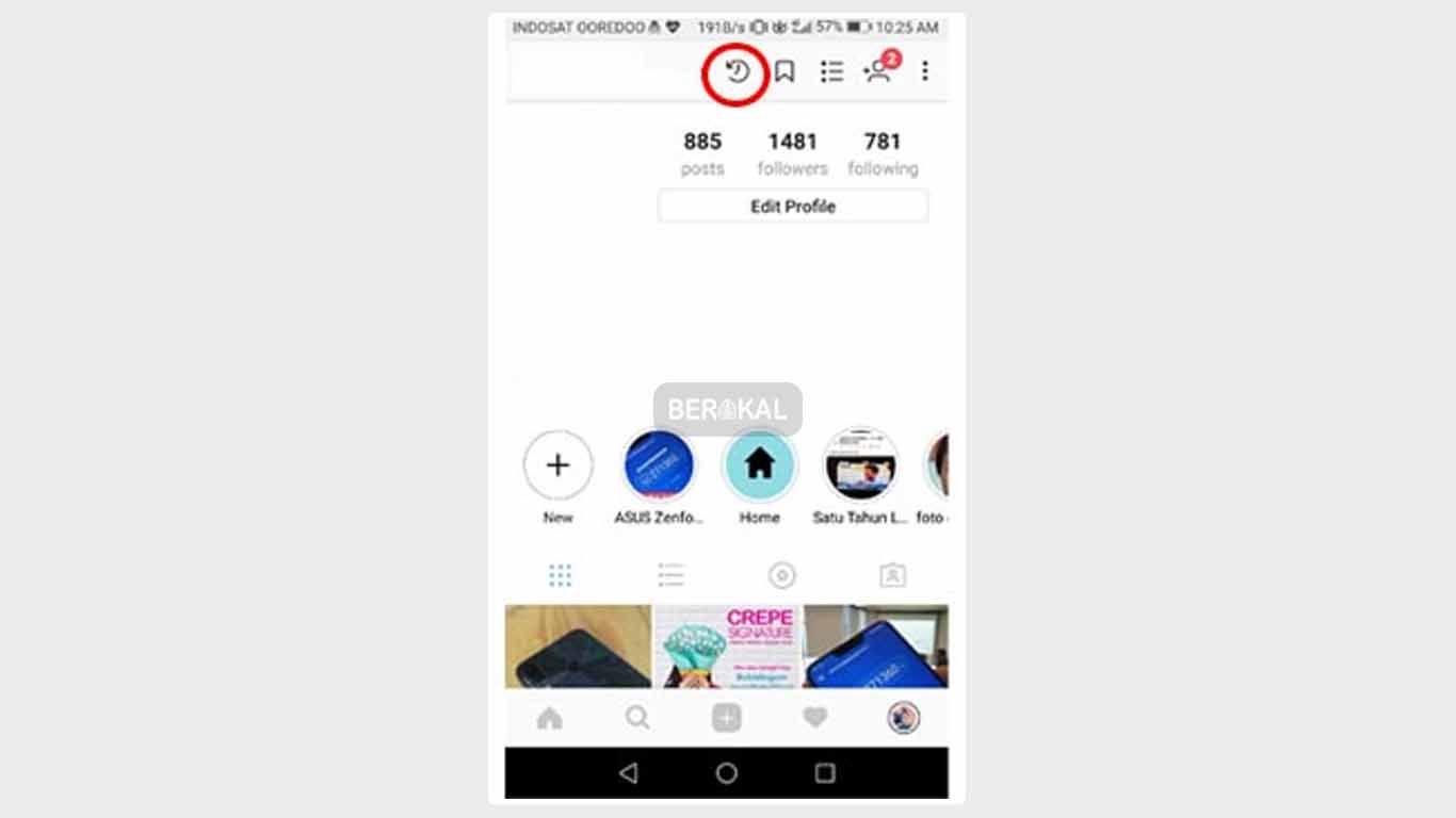 cara membuka file arsip di instagram